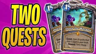 COMPLETING *2 QUESTS* IN ONE GAME | HEX LORD MALACRASS OP | Quest Mage | Rastakhan's Rumble