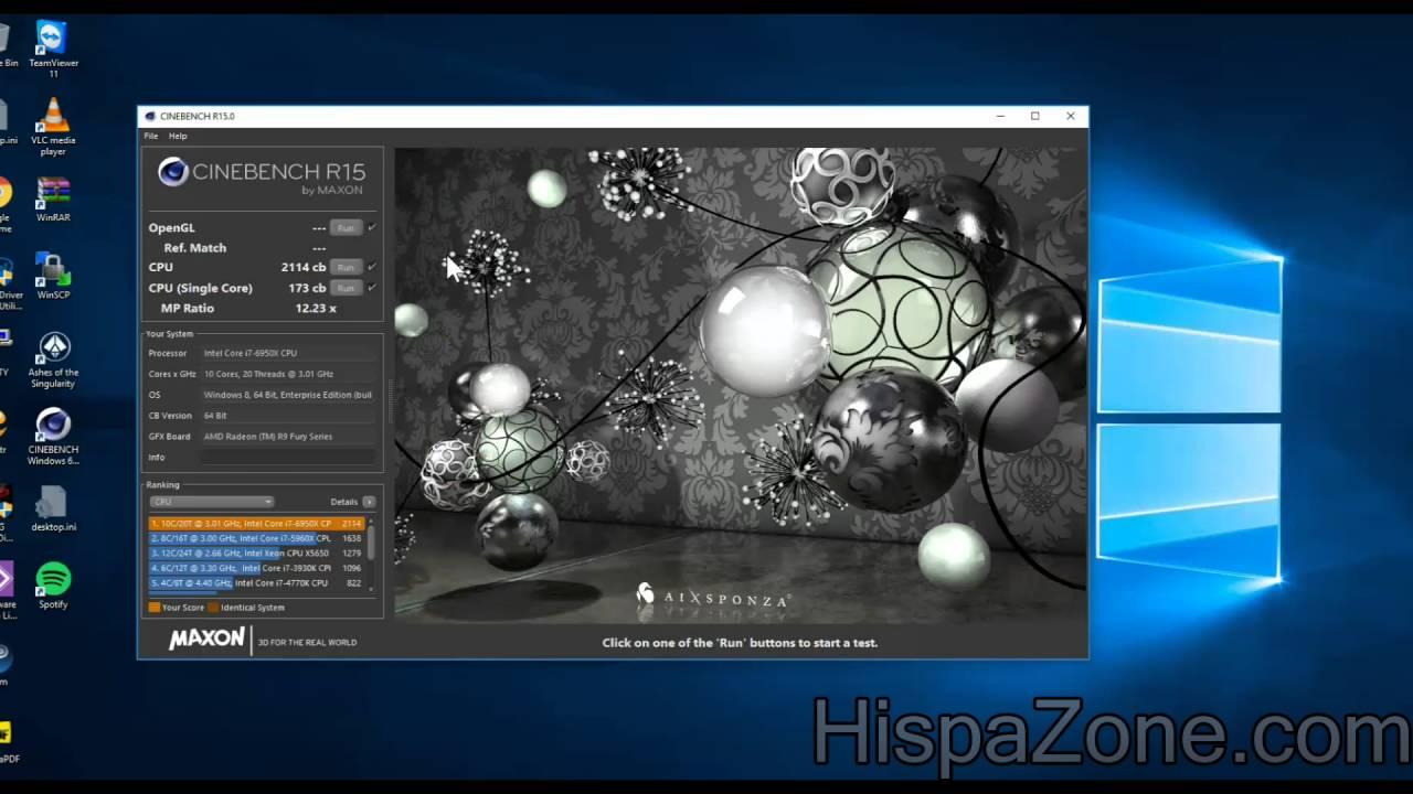 Intel Core I7 6950x 4 2ghz Cinebench R15 Smp Hispazone