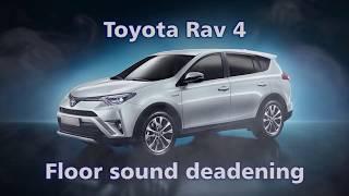 Floor, firewall, wheel arches Sound Deadening.  Toyota Rav 4