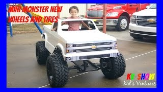 Mini Monster Truck Getting Tires And Wheels