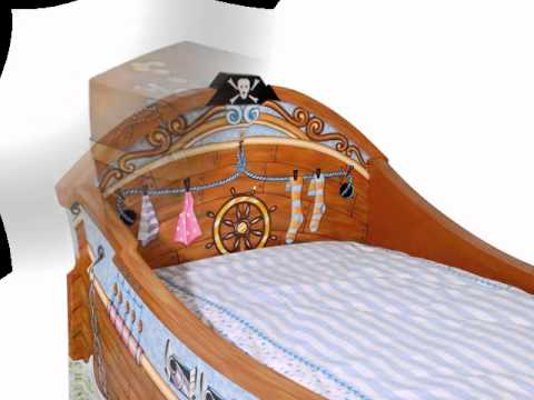 KIDS FURNITURE Miss Tati and Friends  LIL' BUCCANEER hand painted furniture collection.wmv