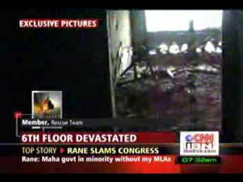 Mumbai terror aftermath - Internal view of Taj mahal hotel