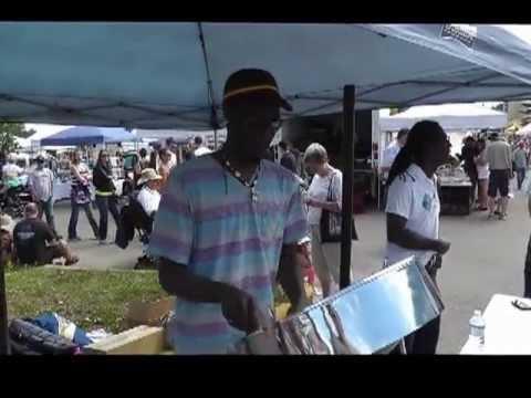 Rohan Nicholas performs the steel drum in Red Deer