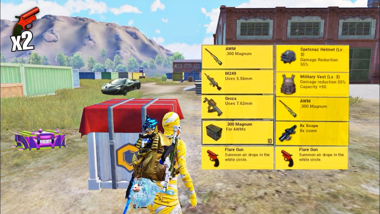 NEW REAL BEST LOOT GAMEPLAY?x2Flare Gun   Pubg Mobile