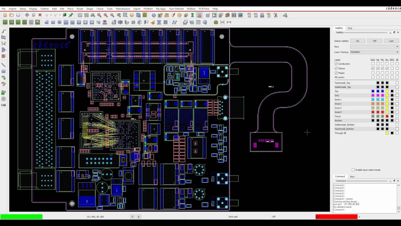 Tutorial Cadence OrCAD and Allegro PCB Editor Visibility Pane ...
