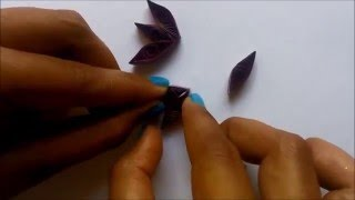 How to make Petals and Flowers from paper Quilling #3