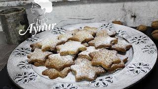 Ağızda Dağılan findikli yildiz kurabiye tarifi# Nusssterne