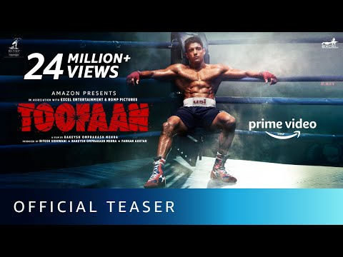 Toofaan - Official Teaser 2021 | Farhan Akhtar, Mrunal Thakur, Paresh Rawal | Amazon Prime Video