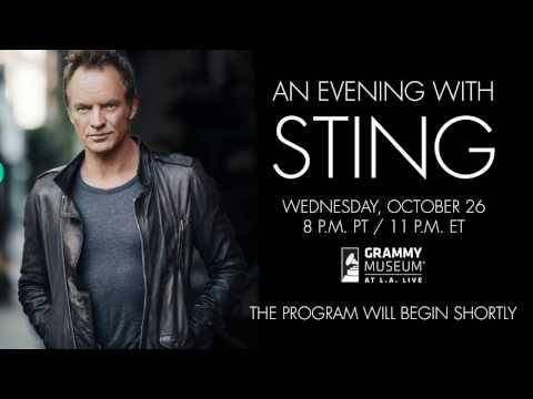 Sting Visits The GRAMMY Museum