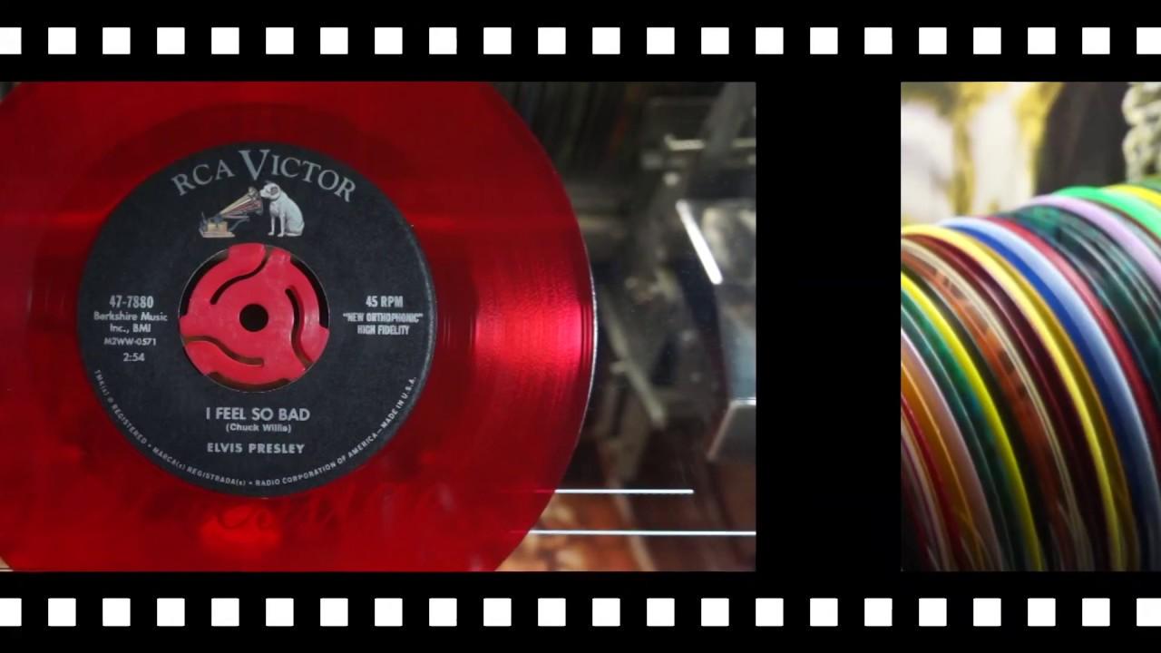 Jonnie's Jukebox Plays: Feel So Bad - Elvis Presley 1961 Re-Issue Red Vinyl