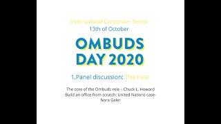 International Ombuds day 2020 Part 1.