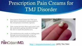 Pain Cream for TMJ Disorder from My Pain Cream MD (855) 784-7864 Thumbnail