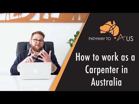 Working As A Carpenter In Australia