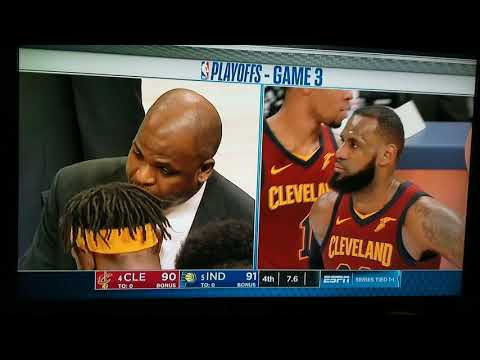 Final minute of cavs vs Pacers game