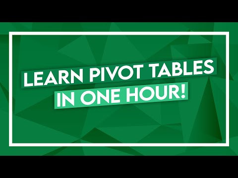 Excel Crash Course - Learn PivotTables In 1 Hour - Microsoft Excel Tutorial