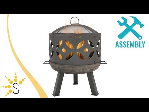 Sunnydaze 26-Inch Retro Fireplace Cast Iron Outdoor Fire Pit - RCM-LG561N