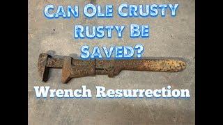 OLD J.H.  Williams Wrench Restoration