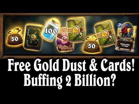 Free Cards Gold & Dust ~ Buffing  2 Billion? ~ Mean Streets of Gadgetzan ~ Hearthstone