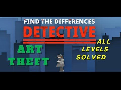Art Theft | Find The Differences: The Detective | Solutions for all levels | 1 - 10