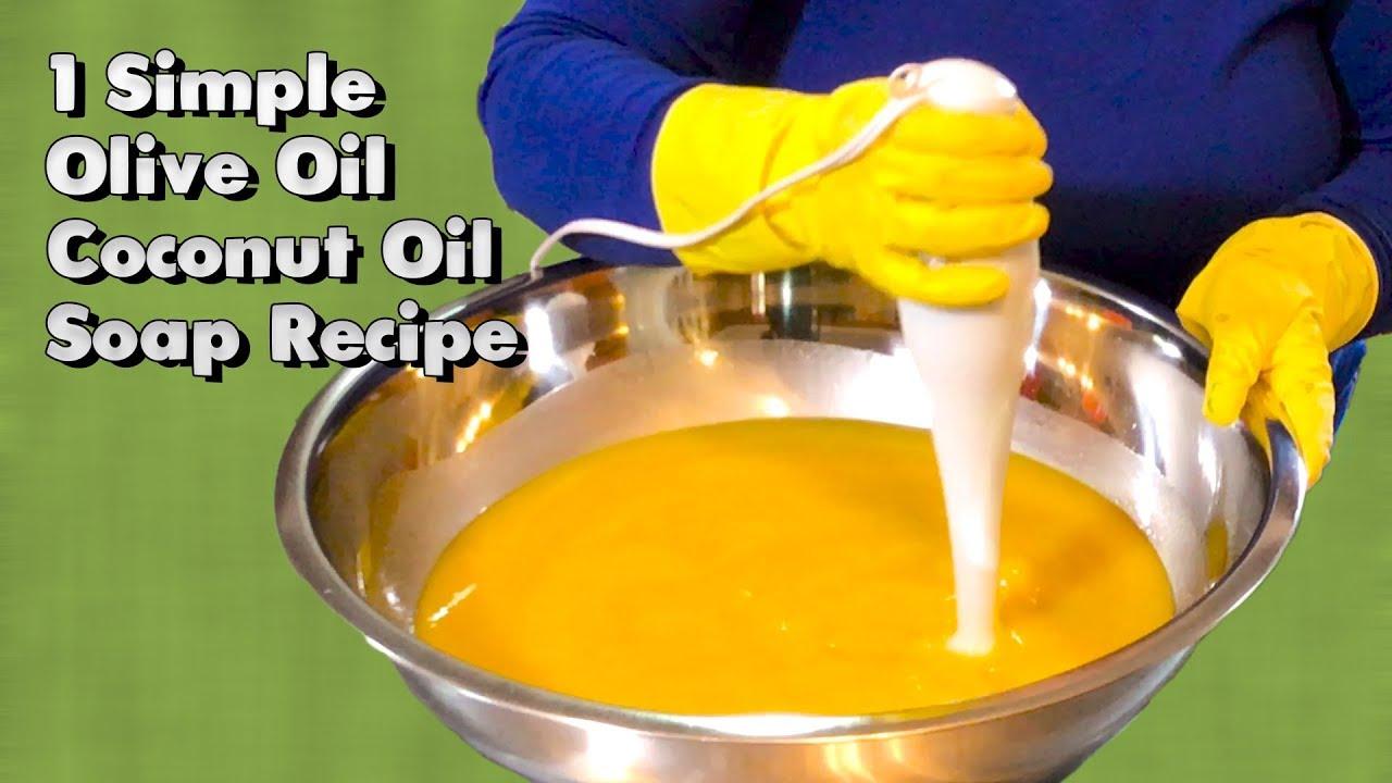 1 Simple Olive Oil Coconut Oil Soap Recipe