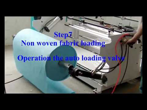 Eco friendly non woven bag making machine electric connect operating video