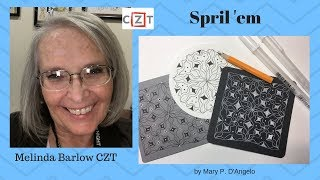 Zentangle Art Lesson Spril'em Pattern #343