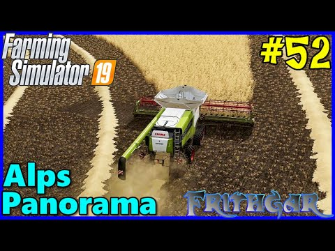 Let's Play FS19, Alps Panorama With Seasons #52: End Of The Barley Harvest!