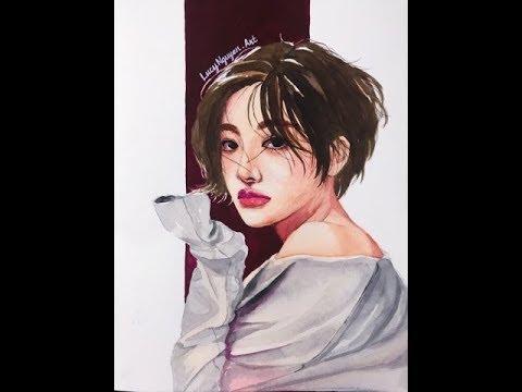 [Watercolor Tutorial] Vẽ tranh chân dung bằng màu nước | Watercolor portrait drawing