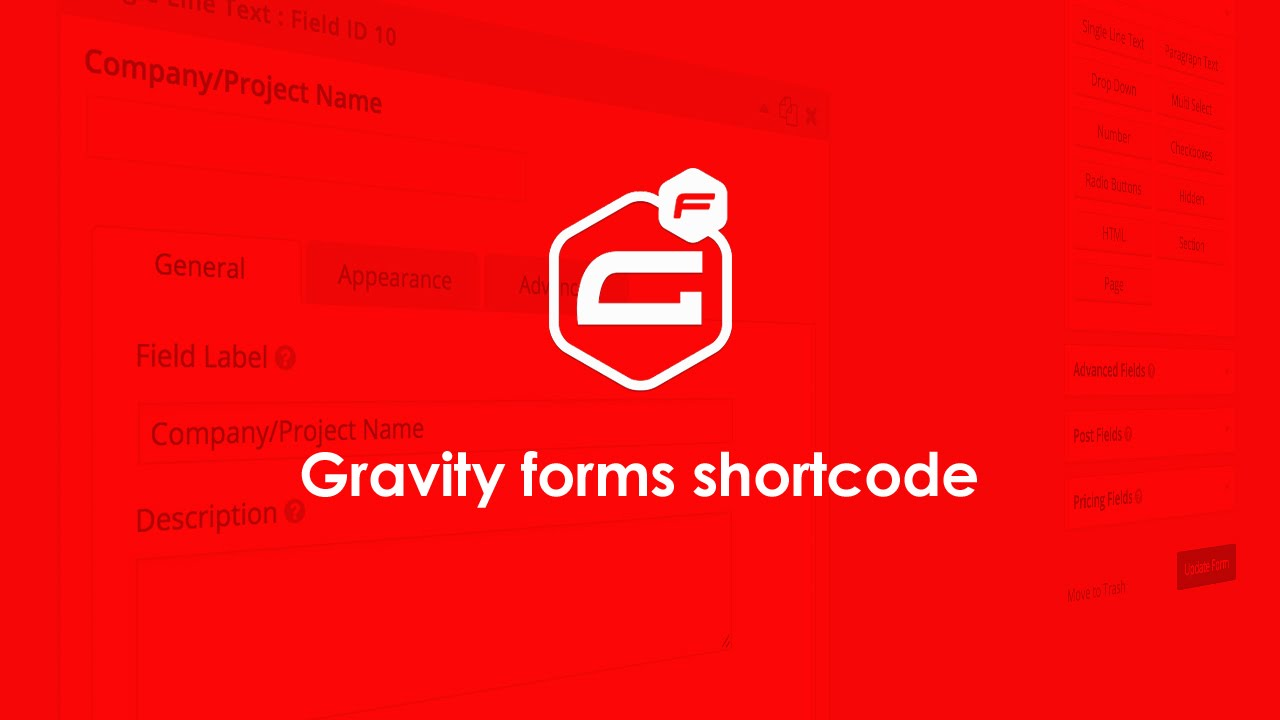 Gravity forms shortcode tutorial