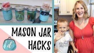 MASON JAR HACKS | 5 Minute Meal Prep Ideas
