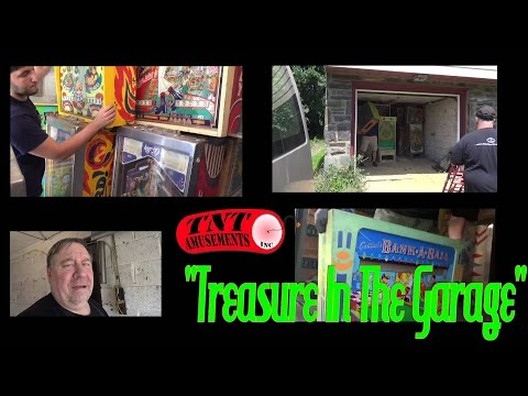 #1002 TREASURE in the GARAGE! 45 Pinball & Video Games Unearthed! TNT Amusements