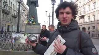 Первоапрельское Утро Петербурга:Уроки жонглирования булыжниками под Носом у Гоголя