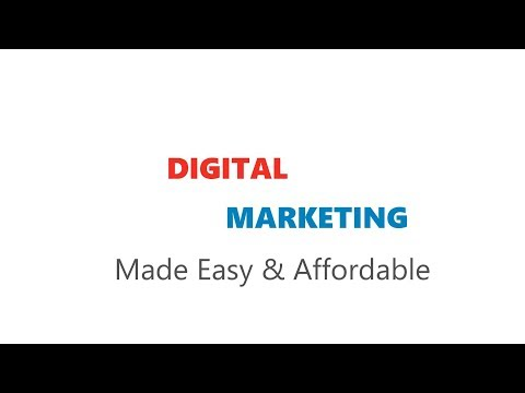 Digital Marketing Made Easy & Affordable