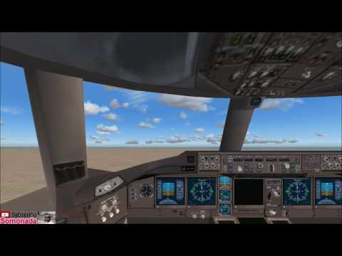 fs9 My Flight from Dammam King Fahad Airport to Doha - boeing 777-300er - Video by Bandicam