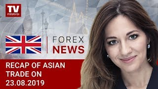 InstaForex tv news: 23.08.2019: USD remains flat ahead of Powell's speech (USDX, JPY, AUD)