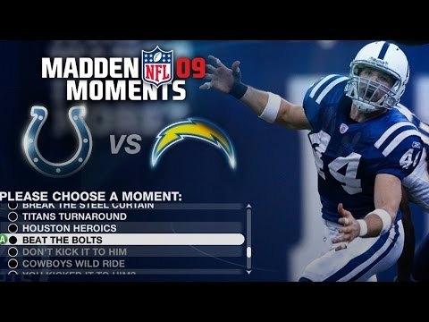 LETS PLAY MADDEN 09 MADDEN MOMENTS PART 5 - NO ONE AND DONE FOR PEYTON MANNING