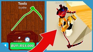 Buying the Scythe and New Dominus Hat in Roblox Treasure Hunt Simulator