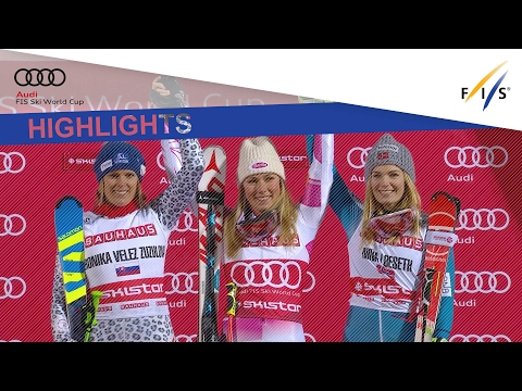 Highlights | Shiffrin defeats Zuzulova and wins the City Event in Stockholm | FIS Alpine