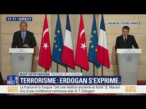 """""""Tu ne parles pas comme un journaliste"""" Quand Erdogan répond sèchement en conférence de presse"""