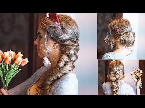 Топ 3 красивые прически пошагово на длинные волосы и на средние. Косы ❤️ Quick And Easy Hairstyles