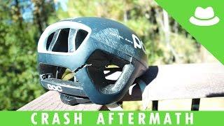 My Helmet After The Crash
