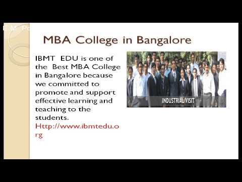 IBMT  Best Business school in Bangalore