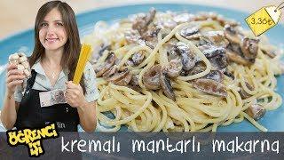 Öğrenci İşi: Kremalı Mantarlı Makarna nasıl yapılır?   Merlin Mutfakta Yemek Tarifleri