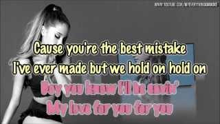 Ariana Grande - Best Mistake (feat Big Sean) - Karaoke/Instrumental with backing vocals