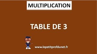 Calcul mental : Multiplication | Table de 3