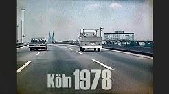 Köln 1978 - Autofahrt Zoobrücke - Innere Kanalstraße - early dashcam