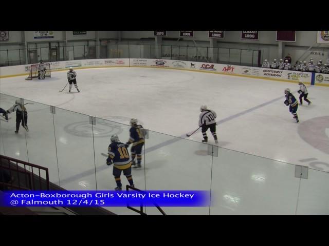 Acton Boxborough Girls Ice Hockey at Falmouth 12/4/15