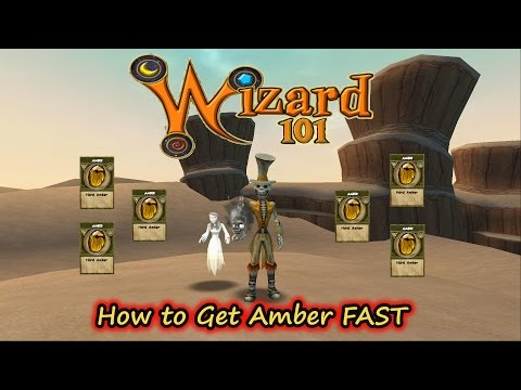 Wizard101 How To Get Amber Fast for Crafting & PvP Spells- Crowns