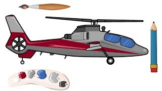 *Helicopter and Tractor learn to draw | Super fairy tales for children | Helikopter i Traktor*