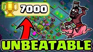 BEST Builder Hall 7 Base w/ PROOF!! +7000 CUPS! | CoC BH7 Base Design 2018 | Clash of Clans Gameplay